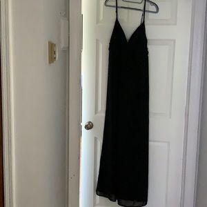 Black maxi dress/ beach cover up